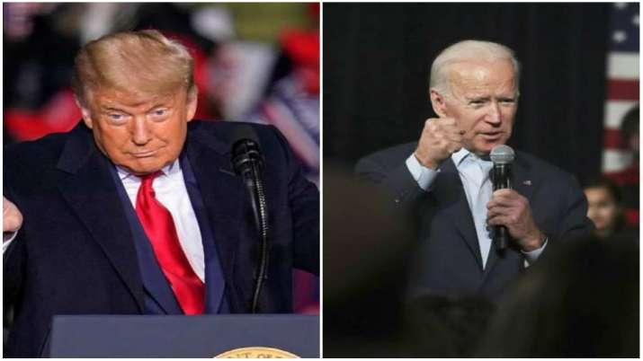 US President Donald Trump and Democratic Presidential candidate Joe Biden