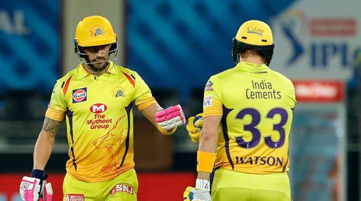 IPL 2020: CSK openers Shane Watson & Faf du Plessis fire fifties in 100-plus opening stand vs KXIP | Cricket News – India TV