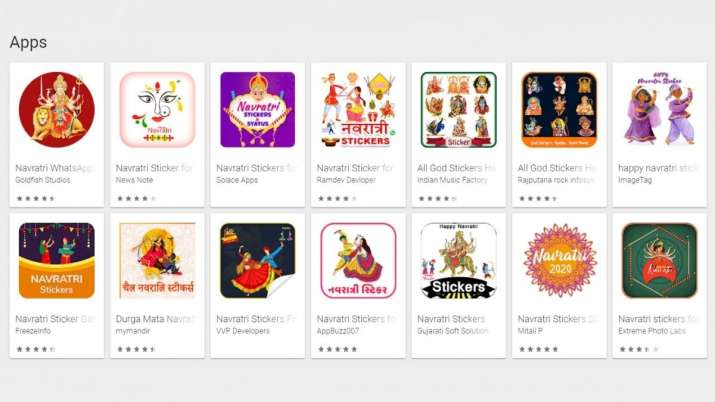 India Tv - navratri 2020, navratri stickers, navratri whatsapp stickers, how to send navratri whatsapp stickers