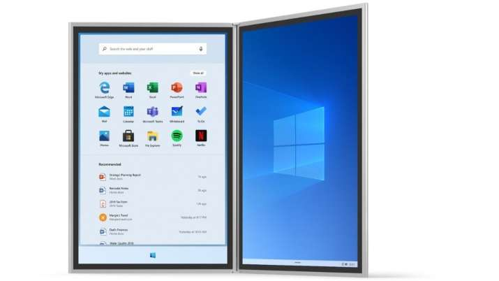 Windows 10X for foldable, dual-screen devices to arrive in December - India TV News