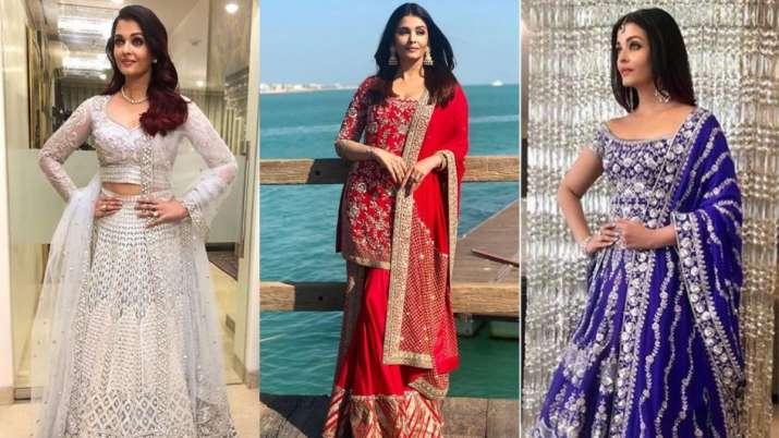 Karwa Chauth 2020: Aishwarya Rai Bachchan's 5 gorgeous festive looks to take inspiration from