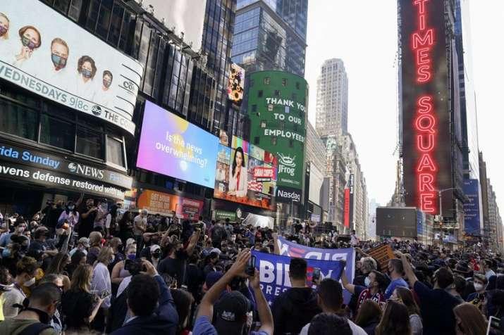 India Tv - Celebration across America as Joe Biden elected US President