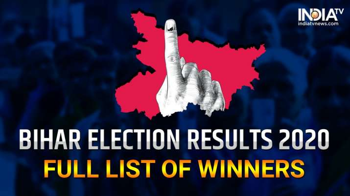Bihar Election Results 2020: Constituency-wise winners - full list