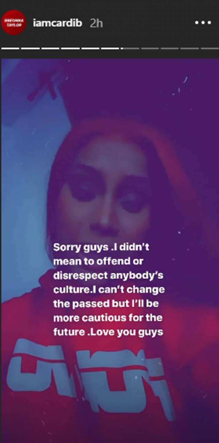 India Tv - Cardi B apologizes after her goddess Durga look hurt sentiments of fans