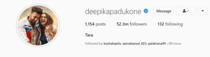Deepika Padukone changes her Twitter, Instagram profile ...