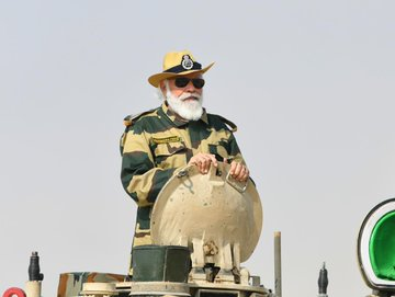 PM Modi's tank ride at Longewala