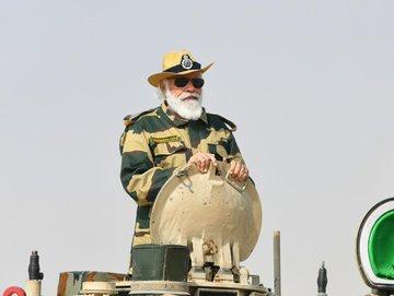 PM Modi's tank ride at Longewala