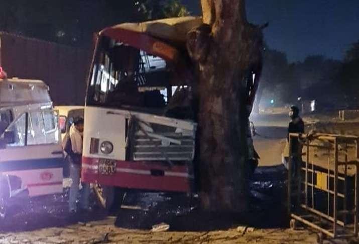 up roadways bus accident