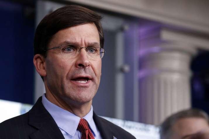 Pentagon spokesman denies report on Esper's resignation plan