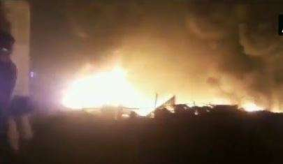Massive fire breaks out at Ghaziabad's slum