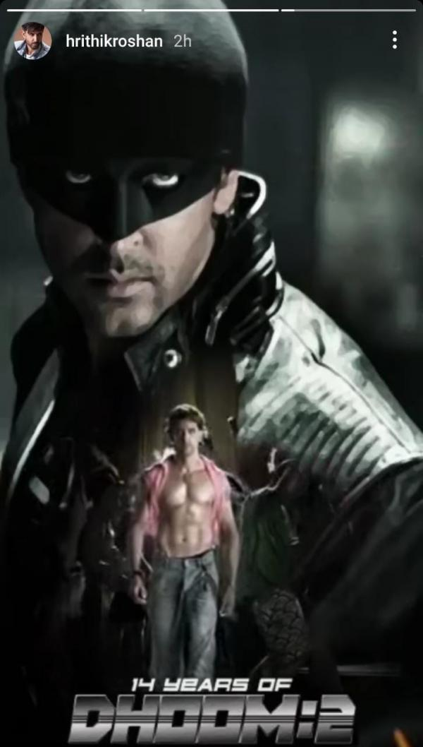 India Tv - Hrithik's post for Dhoom 2