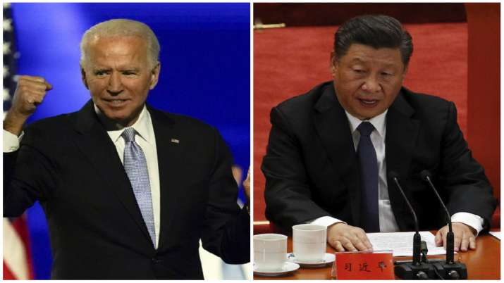 US President-elect Joe Biden and Chinese President Xi Jinping