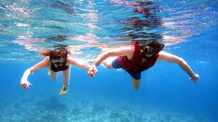 Kajal Aggarwal, hubby Gautam Kitchlu go deep sea diving on honeymoon in Maldives