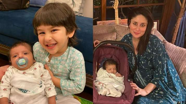 Taimur is all smiles while posing with his little friend at mom Kareena Kapoor Khan's dinner party