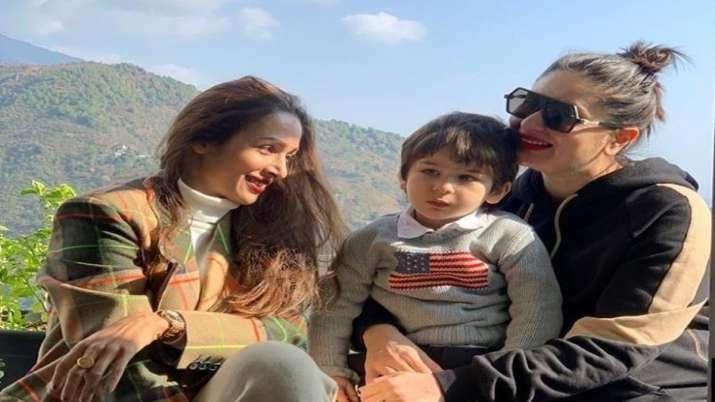 Malaika Arora's shares her 'mountain bliss' moment with Taimur and Kareena Kapoor