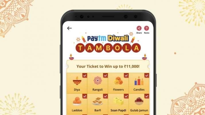 paytm, paytm app, paytm diwali tambola, how to play paytm diwali tambola, how to win rs 11,000 on pa