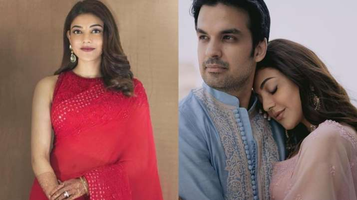 Kajal Aggarwal celebrates first karwa chauth in red saree and dreamy photoshoot with Gautam Kitchlu