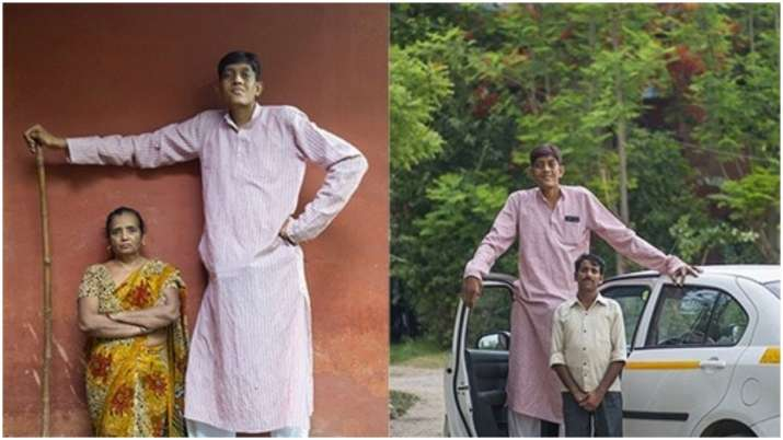 Problems growing taller for 8-feet tall man Dharmendra Pratap Singh from Uttar Pradesh