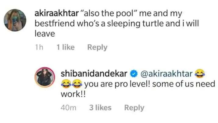 India Tv - Farhan's daughter Akira's comment on Shibani's post