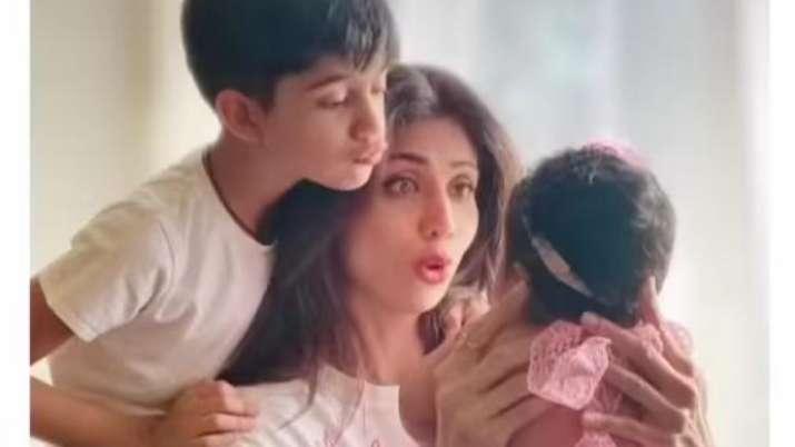 Shilpa Shetty, Viaan, Samisha, Bhai Dooj