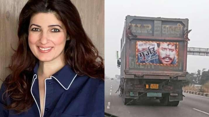 Twinkle Khanna shares Mela poster on back of a truck