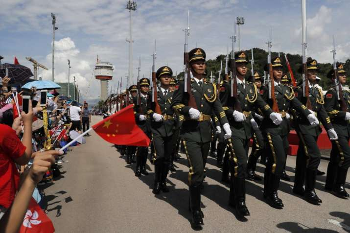 Chinese People's Liberation Army (PLA) soldiers
