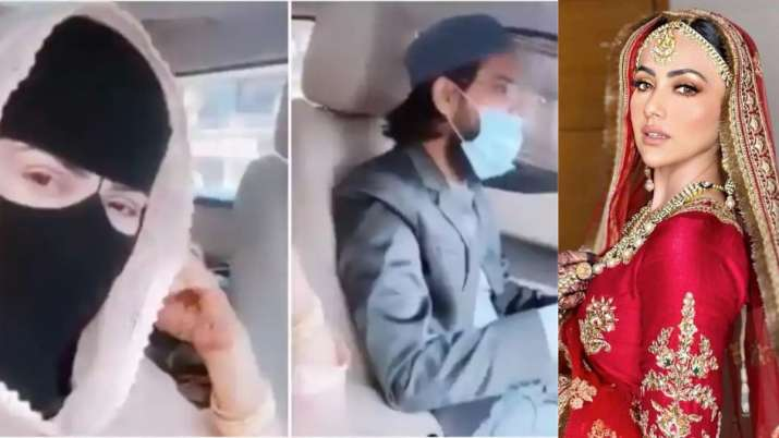 Sana Khan goes for drive with hubby and gets treated with biryani by mom-in-law, See video and pic