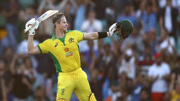 Australia vs India, 1st ODI: Steve Smith slams a quick-fire 62-ball century  as hosts put up 374 on the board | Cricket News – India TV