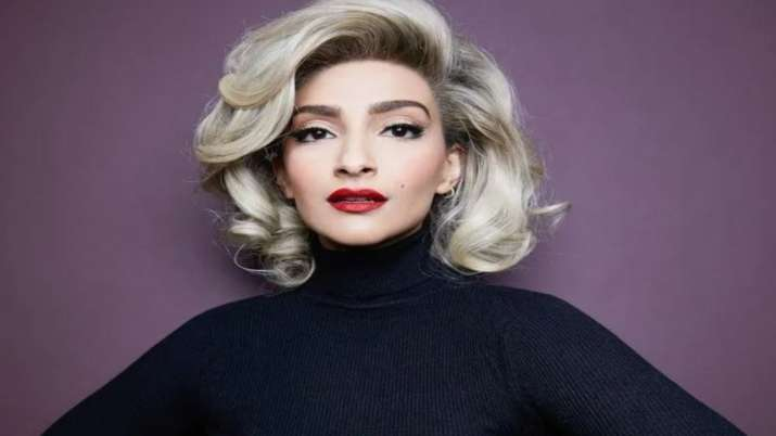 Sonam Kapoor dons a Marilyn Monroe look for Halloween. See pics and videos