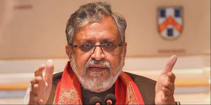 BJP leader and Former Bihar deputy chief miniser Sushil Kumar Modi