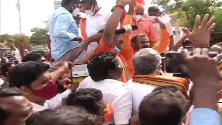 TN BJP Chief, 200 other party workers detained by Tiruttani police for taking out Vetri Vel Yatra