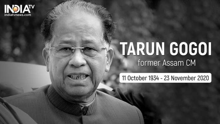 Former Assam Chief Minister Tarun Gogoi has died. He was 86.