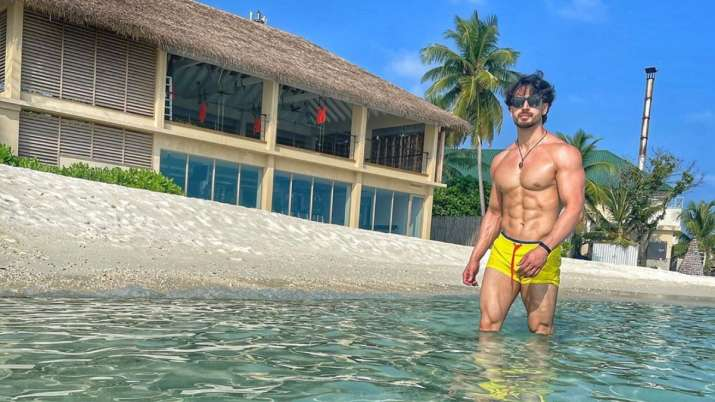 Tiger Shroff chills during Maldives vacation, shares stunning shirtless picture on Instagram