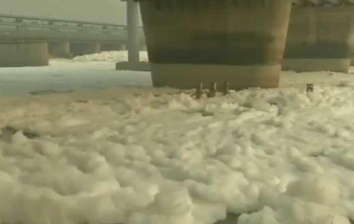 yamuna river toxic foam, toxic foam yamuna river, yamuna toxic foam, yamuna, yamuna river delhi, del