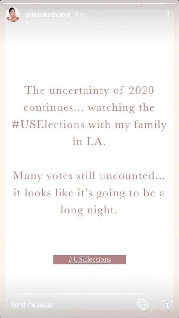 India Tv - PeeCee's post on US elections 2020