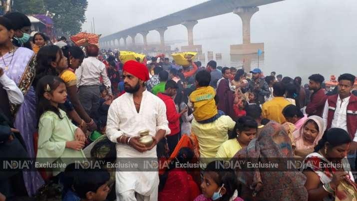 India Tv - Chhath celebrations in Patna