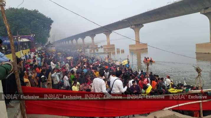 India Tv - Usha Argya celebrations at Patna College Ghat