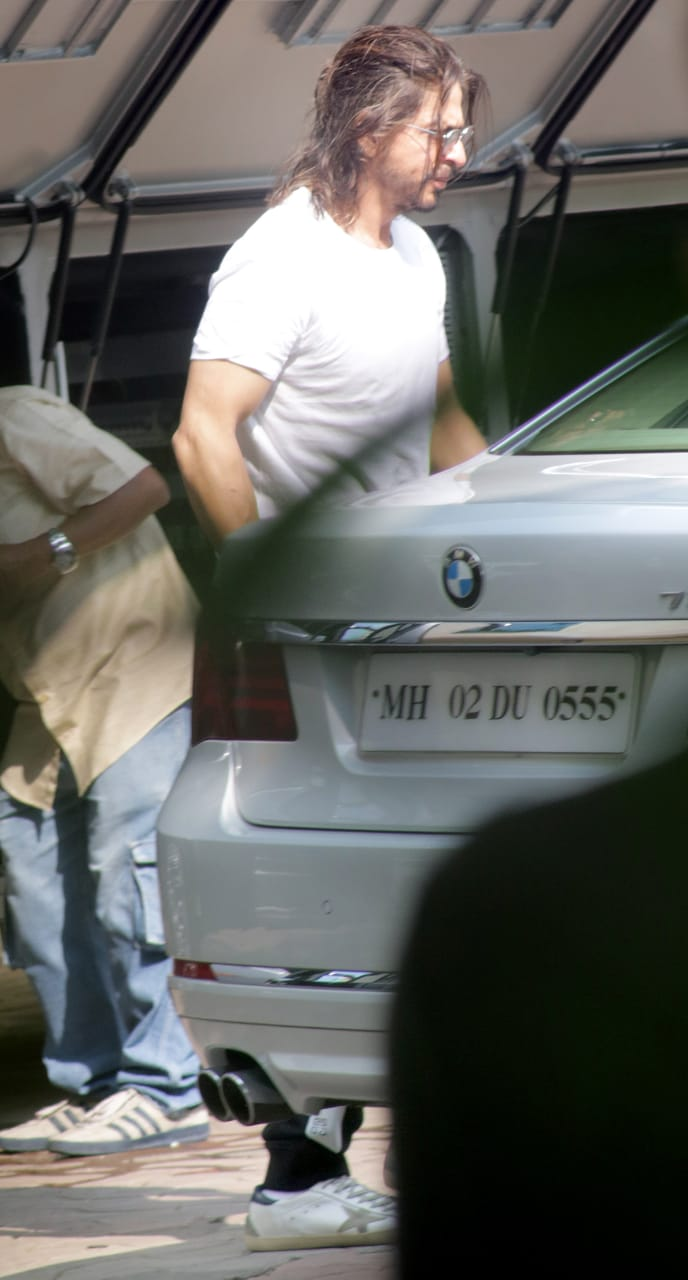 India Tv - Shah Rukh Khan spotted outside Yash Raj Studio