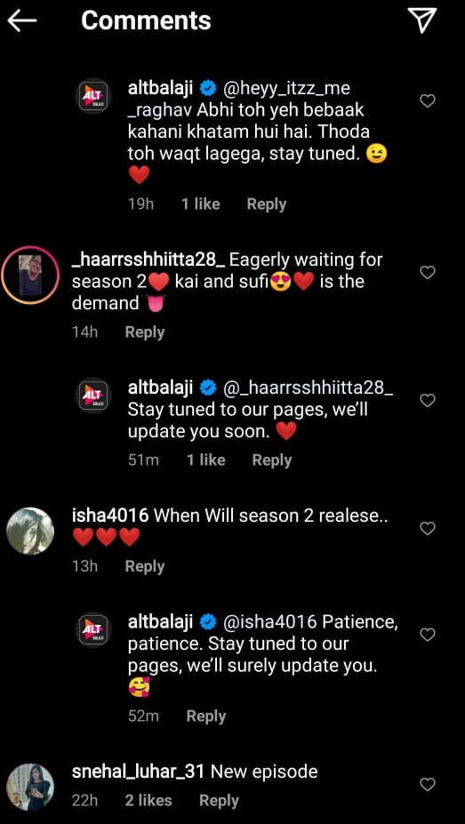 India Tv - Fans demand Bebaakee 2