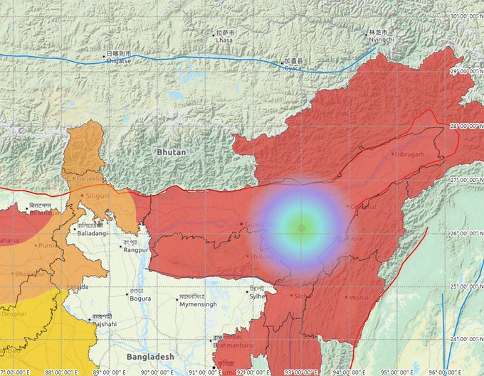 Moderate intensity earthquake hits Assam