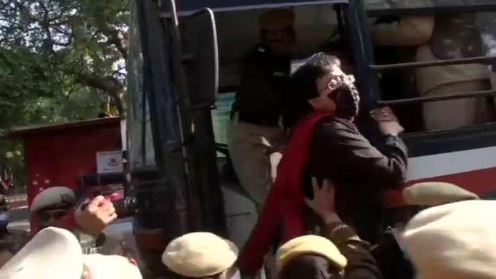 Police detains AAP MLAs Atishi near Delhi LG Anil Baijal's residence