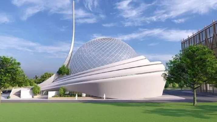 India Tv - Glimpse of futuristic Ayodhya mosque and hospital plan