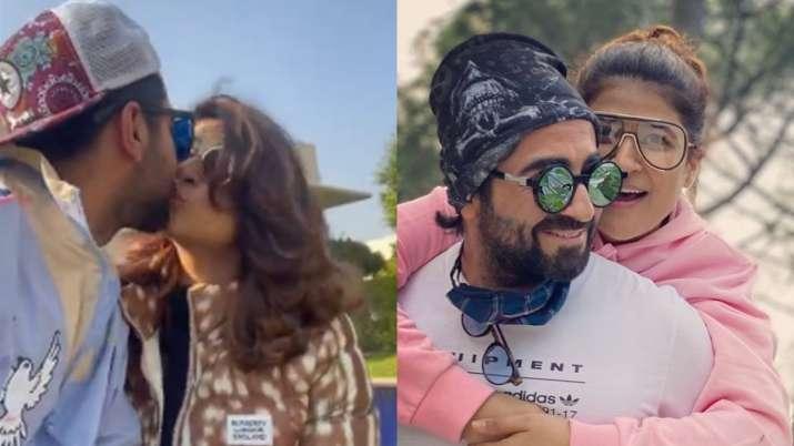 Ayushmann Khurrana enjoys sunny day with wife Tahira, kids post 'Chandigarh Kare Aashiqui' shoot wra