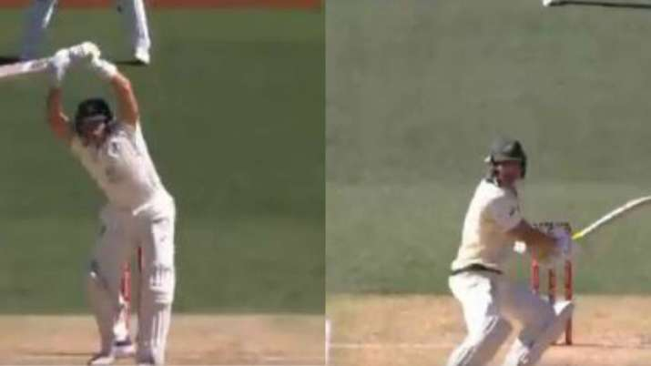 Aus Vs Ind 1st Test Marnus Labuschagne Pulls Off Hilarious No Run Leaves Like Steve Smith Cricket News India Tv