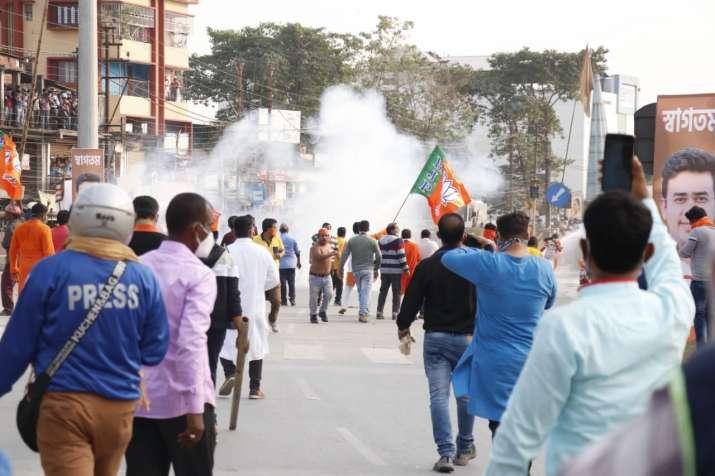 siliguri, bjp protest, bengal news, siliguri protest, tmc