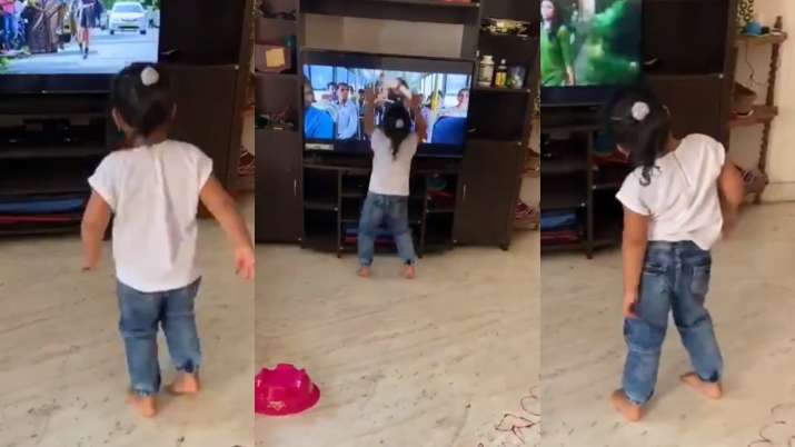 Viral video: Excited toddler grooves to Tamil Song Morrakka, then bangs the TV on floor
