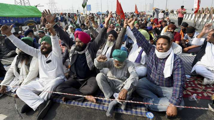 farmers protest day 9