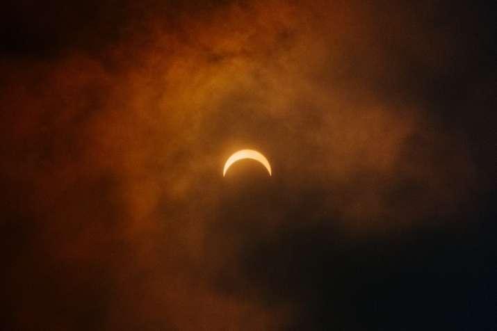India Tv - Partial solar eclipse in Coyhaique, Chile.
