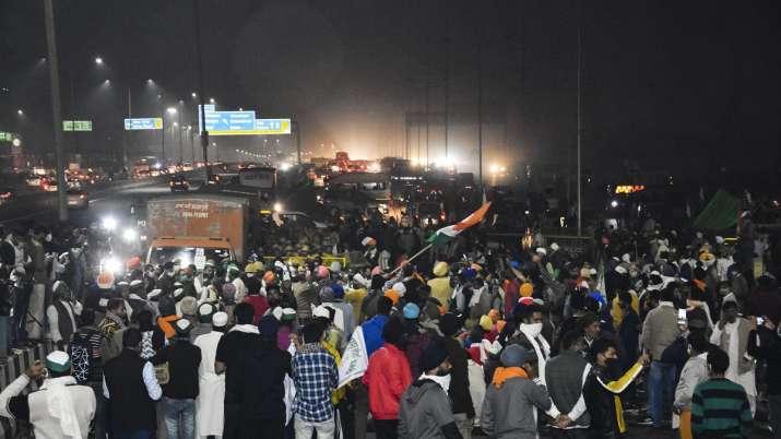 Farmers block a part of the Delhi-Meerut National Highway