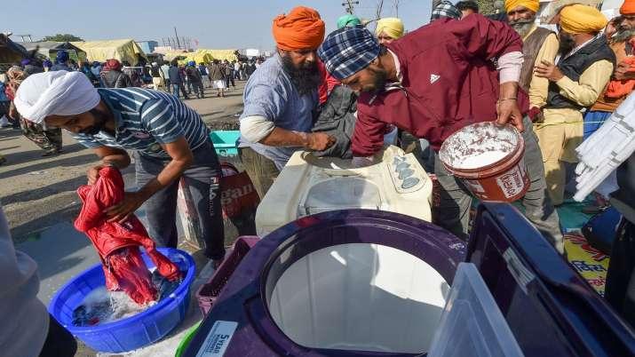 India Tv - Farmers protest, farm laws, Singhu border, Punjab, Haryana